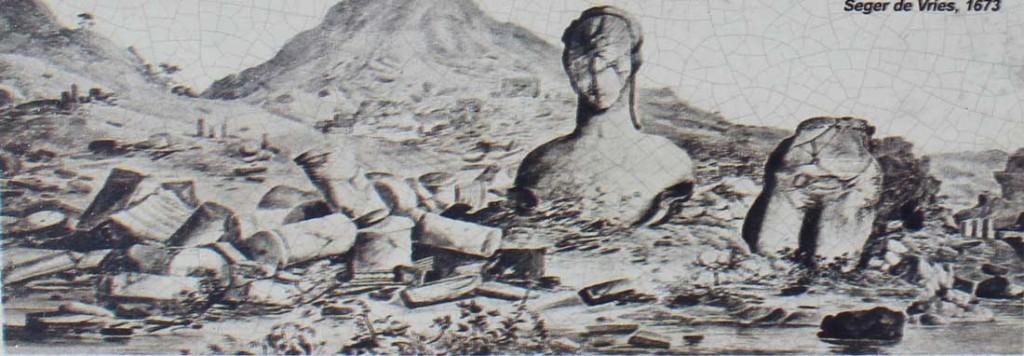 Piirros vuodelta 1673. Kuvattu alueen opastaulusta.