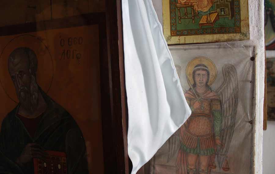 Arkkienkeli Mikael piirroksessa