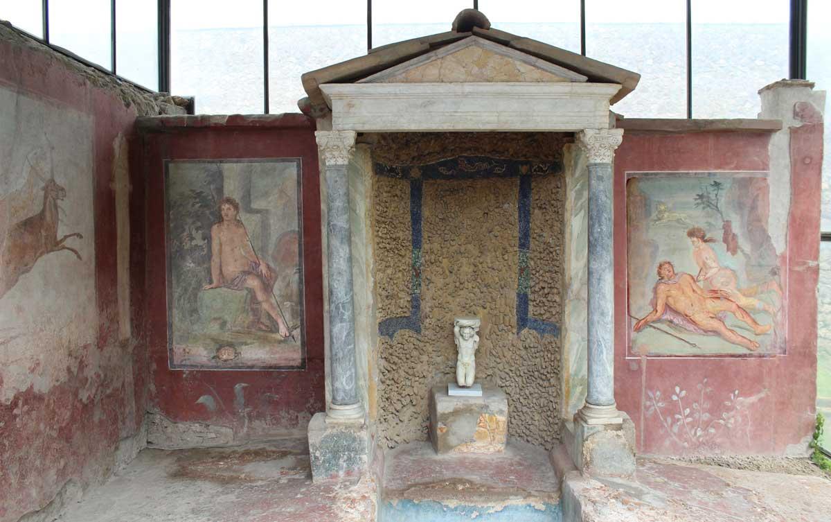 Octavius Quartion talon puutarhan seinämaalauksia.