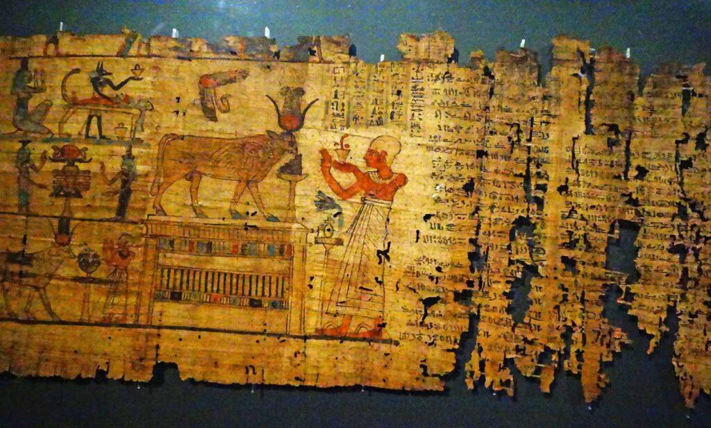 Kuolleiden kirja papyruksella.